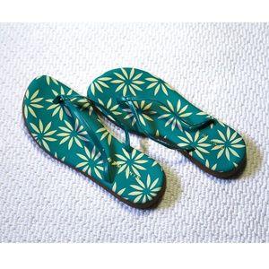 Nine West Floral Flip Flop Thong Sandals